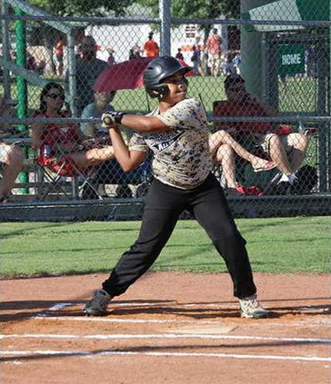 Braden Tubbs gets ready to swing in all-star action
