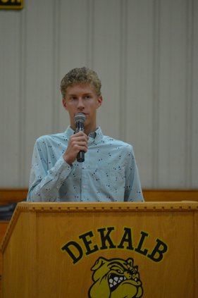 Isaac Brown delivers message.JPG