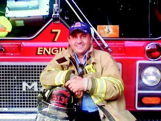 Joey Sweat by firetruck