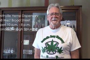 David Lunsford at the Smithville Hemp Dispensary