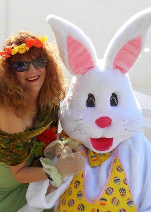 Lori Christensen & Easter Bunny, cropped closeup.jpg