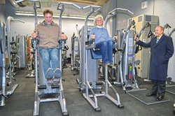 Commissioners tour WCMS Fitness Center.jpg